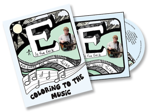 E is for Erik CD and coloring book